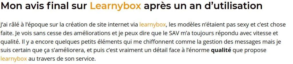 Avis LearnyBox 2