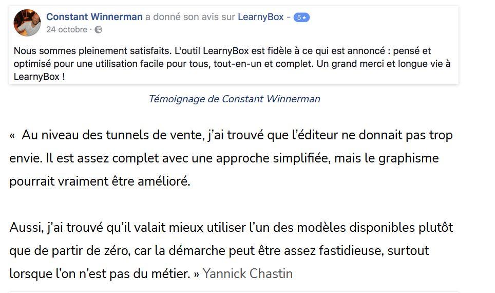 Avis LearnyBox 4