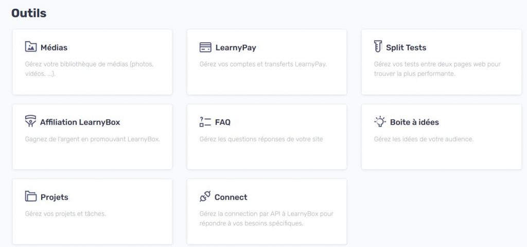 Learny Outils