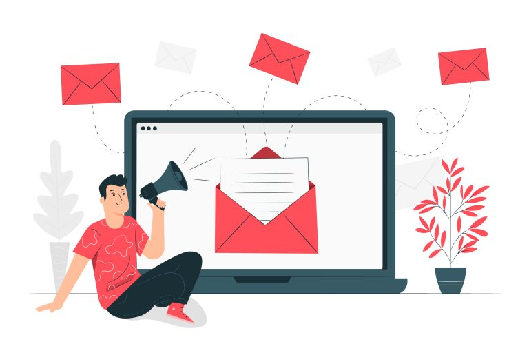 landing page email